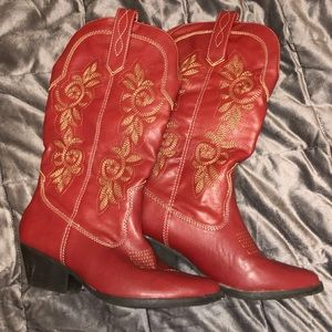 Shoes - Burgangy Cowgirl Boots